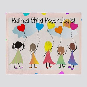 child psychologist retired Throw Blanket