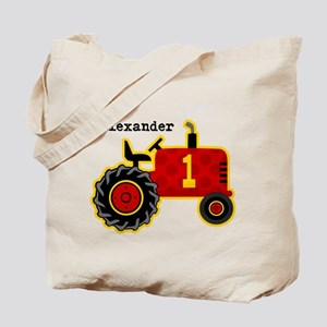 Red Tractor 1st Birthday Personalized Tote Bag