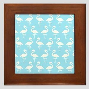 'Flamingos' Framed Tile