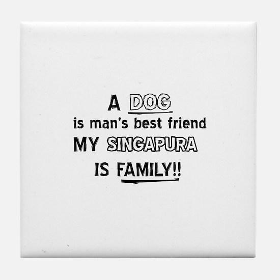 Singapura is my best friend Tile Coaster