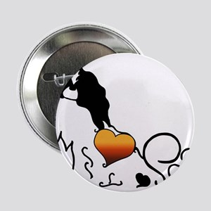 """Silhouette Japanese Chin 2.25"""" Button"""