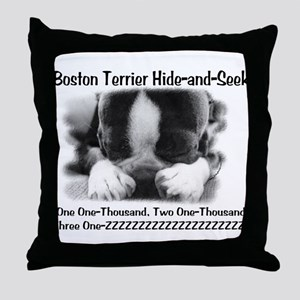 Boston Hide and Seek Throw Pillow