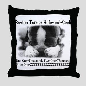 Boston Hide and Seek Throw Pillow
