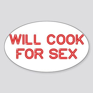 will-cook-for-sex-SO-RED Sticker