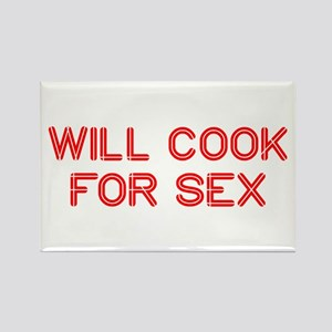 will-cook-for-sex-SO-RED Rectangle Magnet