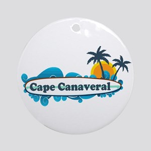 Cape Canaveral - Surf Design. Ornament (Round)