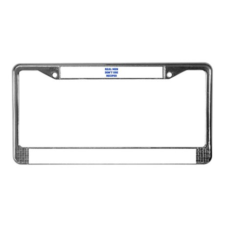 real-men-dont-use-recipes fresh blue License Plate