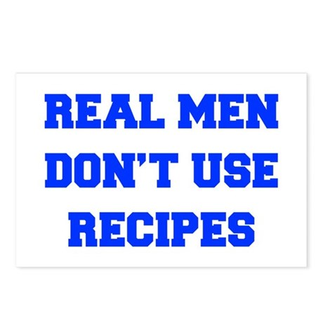 real-men-dont-use-recipes fresh blue Postcards (Pa