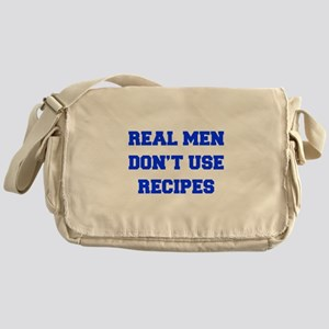 real-men-dont-use-recipes fresh blue Messenger Bag