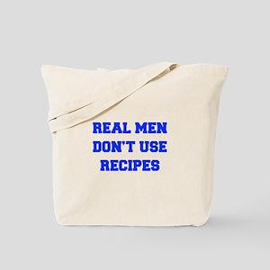 real-men-dont-use-recipes fresh blue Tote Bag