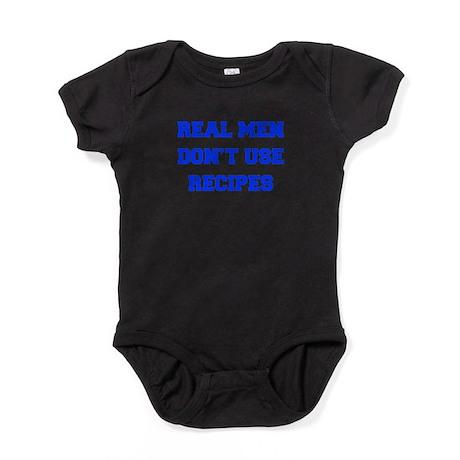 real-men-dont-use-recipes fresh blue Baby Bodysuit