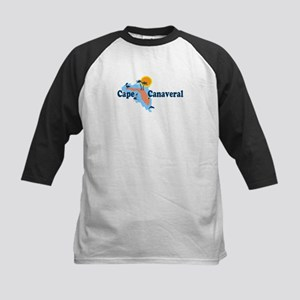 Cape Canaveral - Map Design. Kids Baseball Jersey