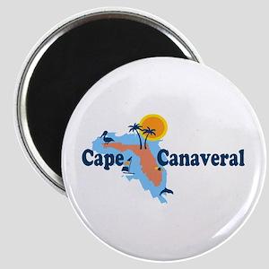 Cape Canaveral - Map Design. Magnet
