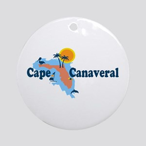 Cape Canaveral - Map Design. Ornament (Round)