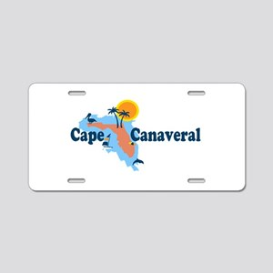 Cape Canaveral - Map Design. Aluminum License Plat