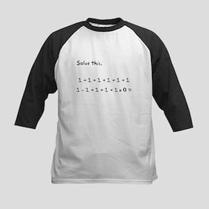 Solve This Math Kids Baseball Jersey