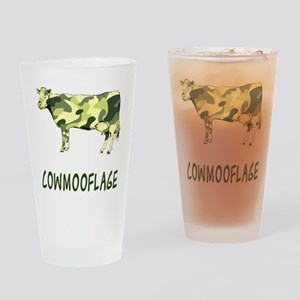 Cowmooflage Drinking Glass