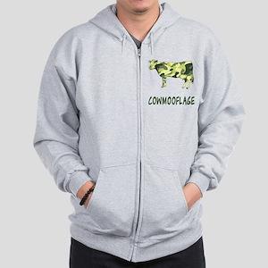 Cowmooflage Zip Hoodie