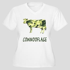 Cowmooflage Women's Plus Size V-Neck T-Shirt