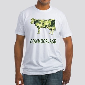 Cowmooflage Fitted T-Shirt