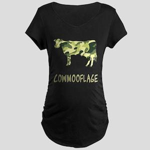 Cowmooflage Maternity Dark T-Shirt
