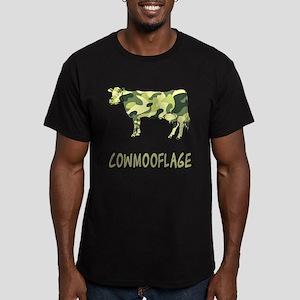 Cowmooflage Men's Fitted T-Shirt (dark)