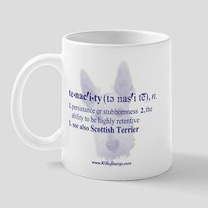 Tenacity--Scottish Terrier Mug
