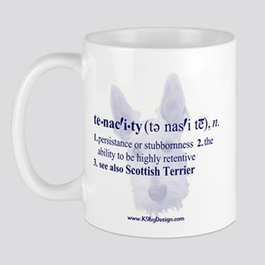 Tenacity--Scottish Terrier Mug