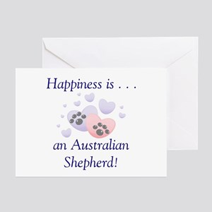 Happiness is...an Australian Shepherd Greeting Car