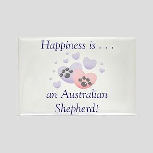 Happiness is...an Australian Shepherd Rectangle Ma
