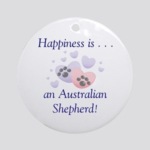 Happiness is...an Australian Shepherd Ornament (Ro