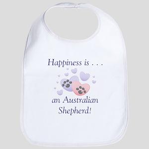 Happiness is...an Australian Shepherd Bib