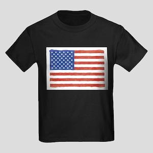 Watercolor USA Flag: Ash Grey T-Shirt