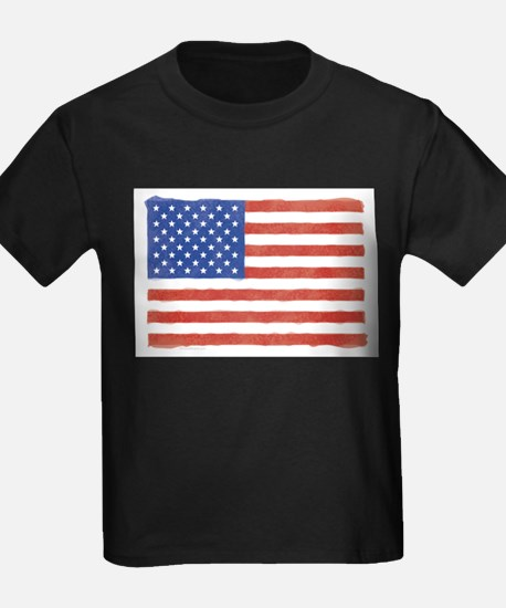 Watercolor USA Flag: Ash Grey T-Shirt
