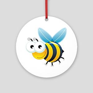 Happy Bee Ornament (Round)