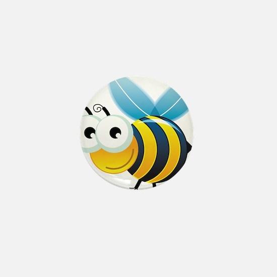 Happy Bee Mini Button