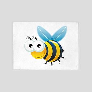 Happy Bee 5'x7'Area Rug