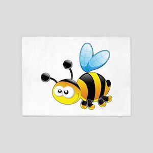 Cartoon Bee 5'x7'Area Rug