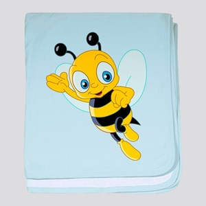Jumping Bee baby blanket