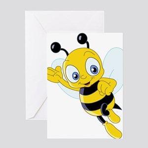 Jumping Bee Greeting Card