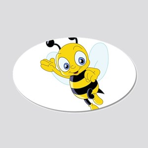 Jumping Bee Wall Decal