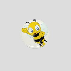 Jumping Bee Mini Button