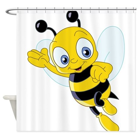 Jumping Bee Shower Curtain