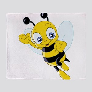 Jumping Bee Throw Blanket