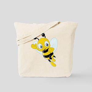 Jumping Bee Tote Bag