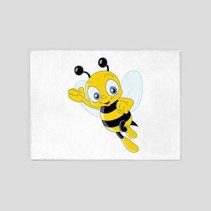 Jumping Bee 5'x7'Area Rug