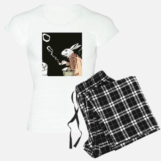 Pipe Smoking rabbit Pajamas