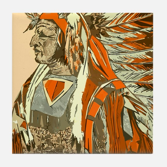 Tribal Leader Tile Coaster