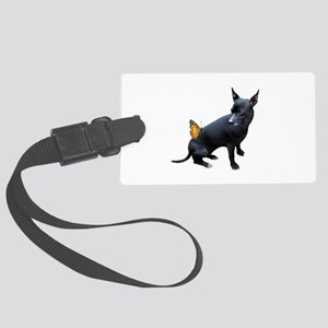 Dog Butterfly Large Luggage Tag