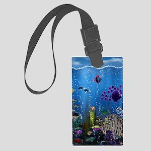 Underwater Love Large Luggage Tag
